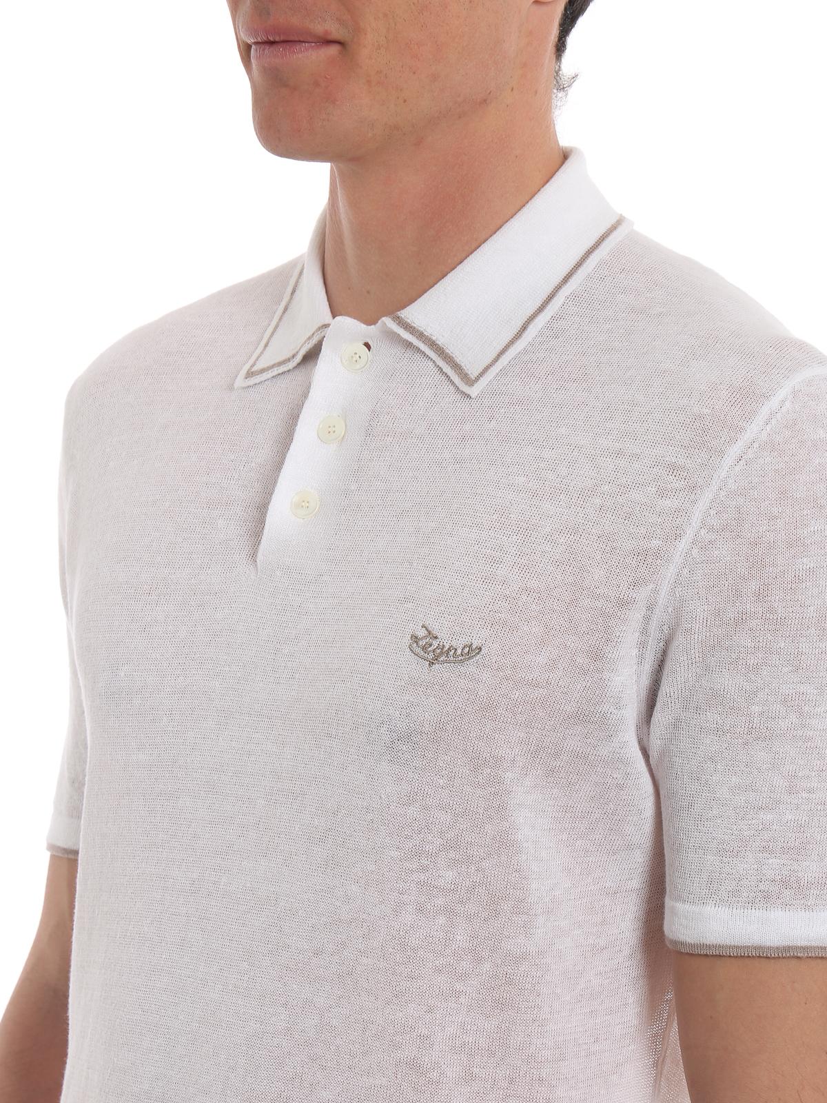 f14ac4bc83 Ermenegildo Zegna - Knitted linen and cotton polo shirt ...