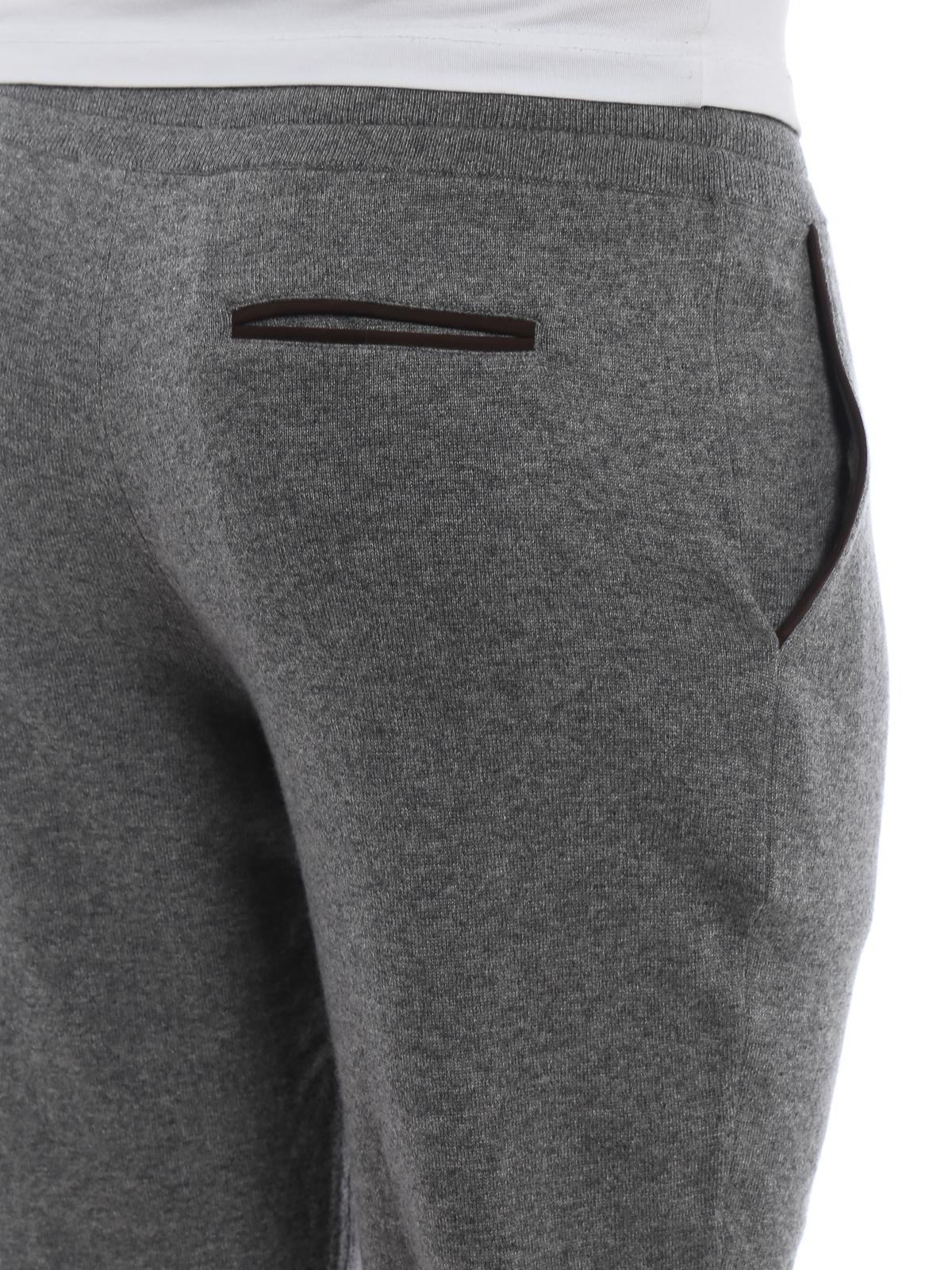 finest selection 52450 30e71 Ermenegildo Zegna - Pantaloni da tuta grigi in maglia di ...