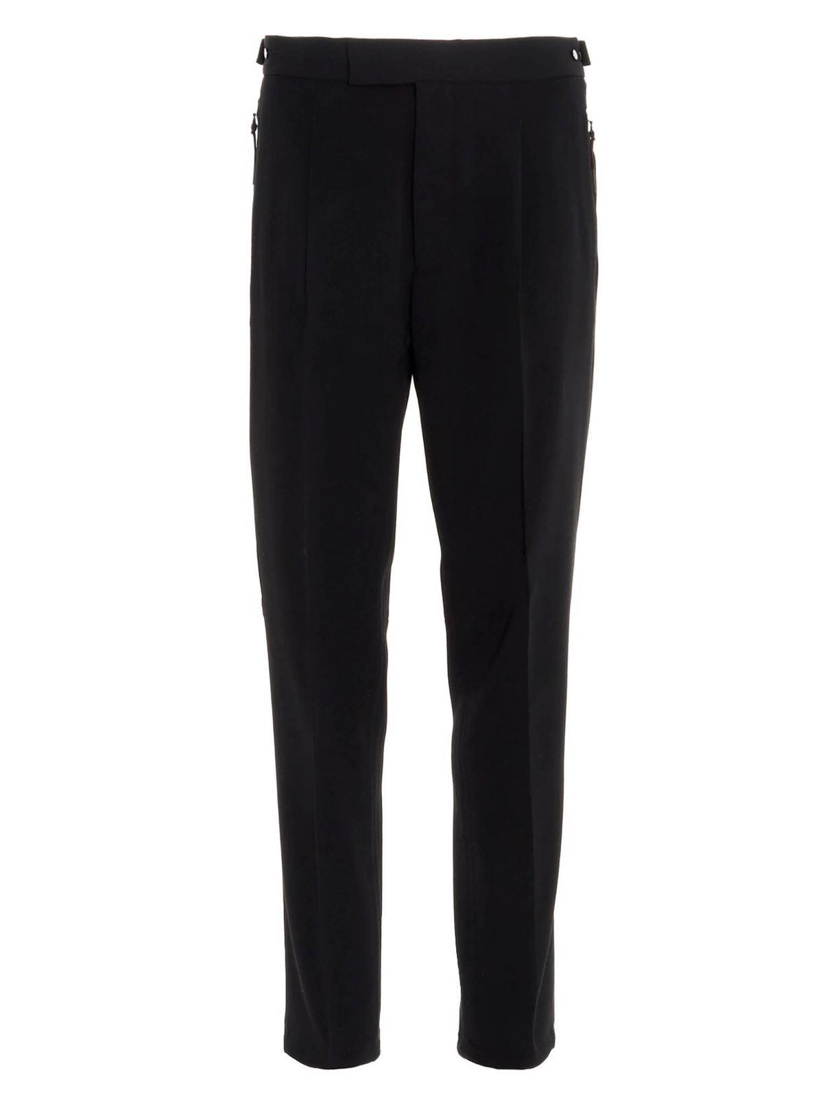 Ermenegildo Zegna Pants CLASSIC URBAN PANTS IN BLACK