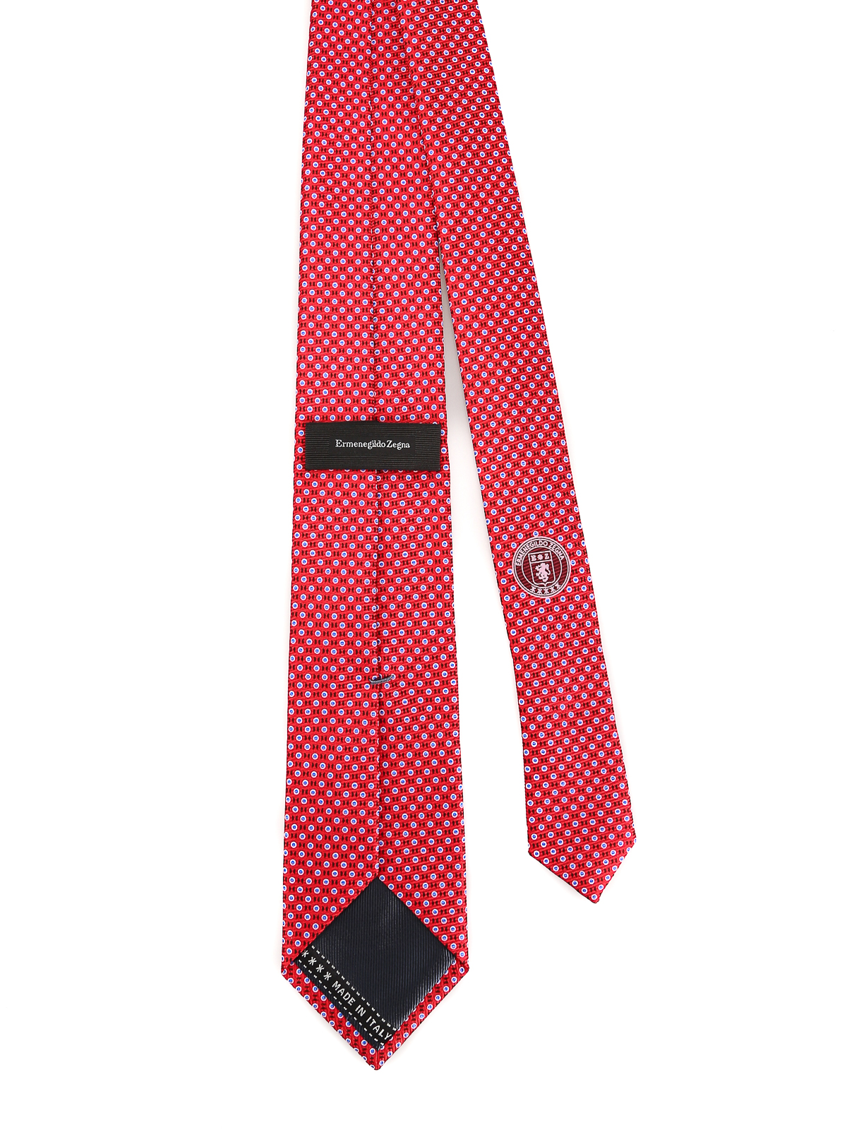 988c3671 Ermenegildo Zegna - Micro pattern red silk tie - ties & bow ...