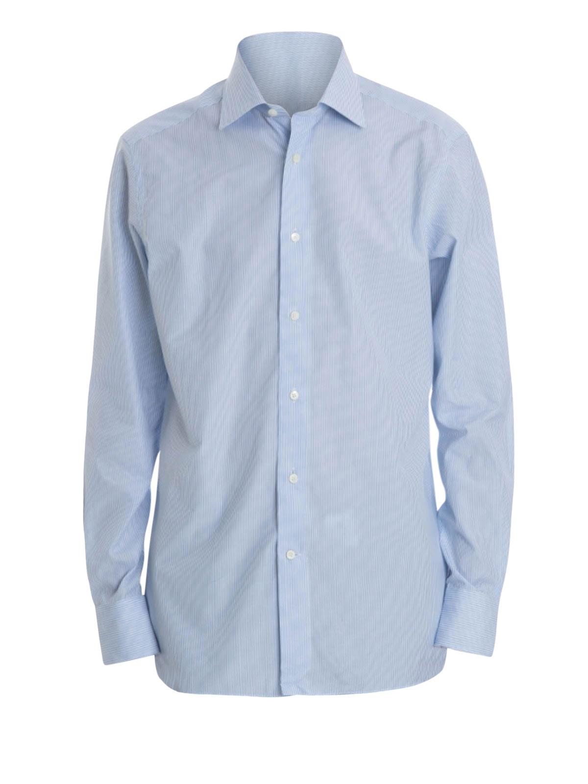 striped cotton shirt by ermenegildo zegna shirts ikrix. Black Bedroom Furniture Sets. Home Design Ideas