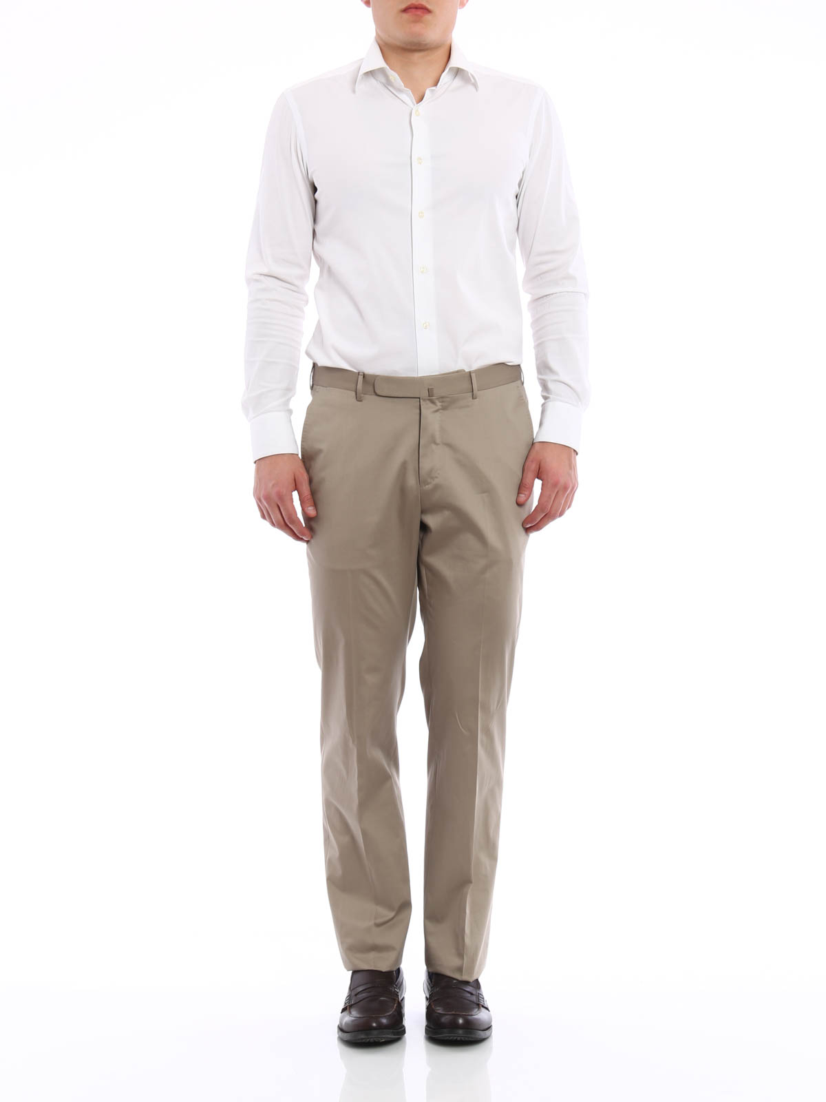 Cotton tailored trousers by Ermenegildo Zegna