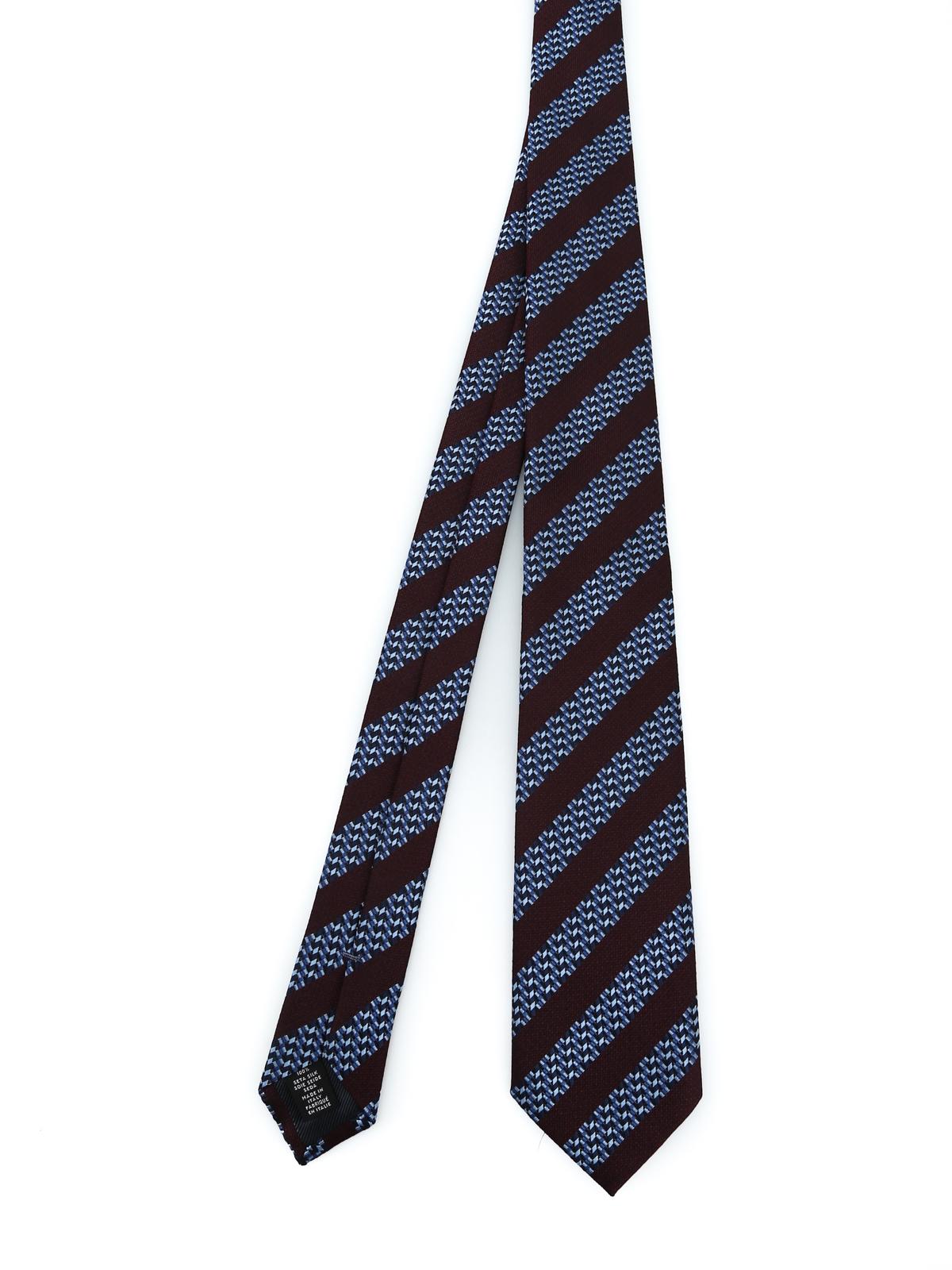 065a975e Ermenegildo Zegna - Micro design and stripe silk tie - ties & bow ...