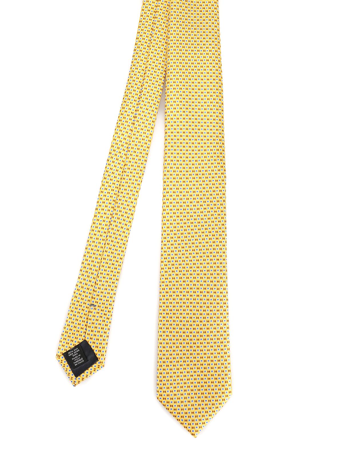 nuovo concetto Sneakers 2018 100% genuino Ermenegildo Zegna - Cravatta in seta gialla micro fantasia ...