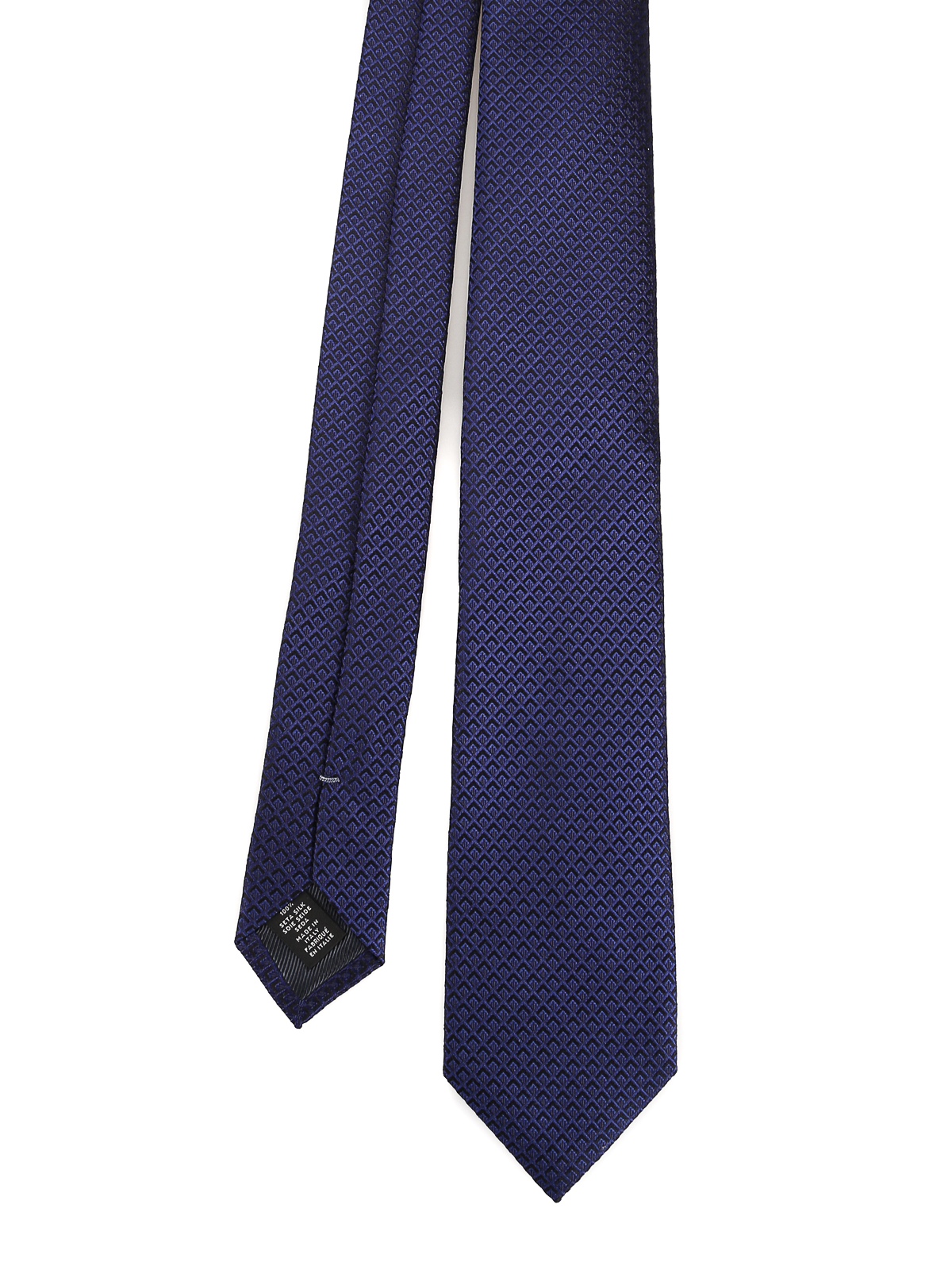 f7f141c0c4 Ermenegildo Zegna - Solid navy blue wrought silk tie - ties & bow ...