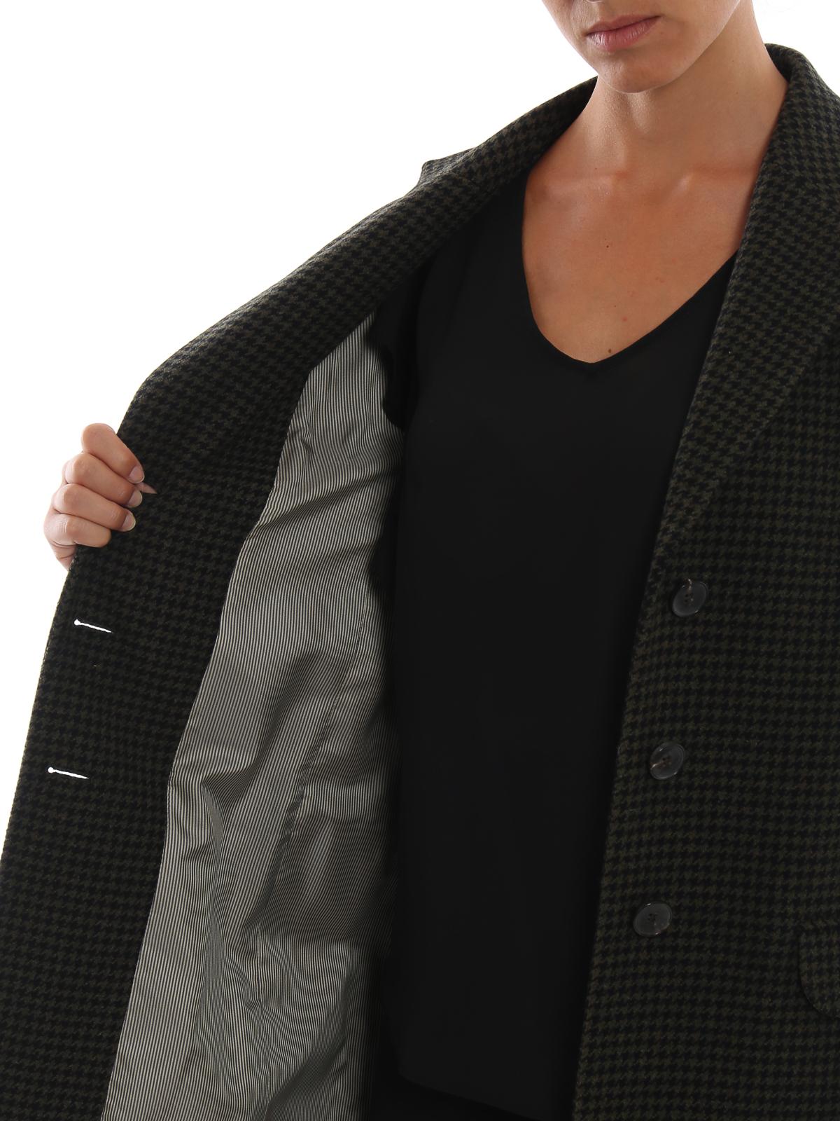 best authentic 5fd3c 61628 Etro - Cappotto dritto in lana pied-de-poule - cappotti al ...