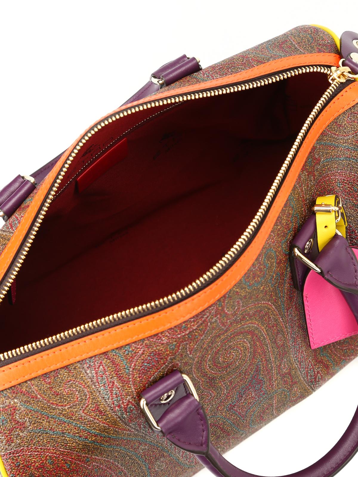 new product d4cff 14a03 Etro - Bauletto Paisley con bordi colorati - bauletti ...