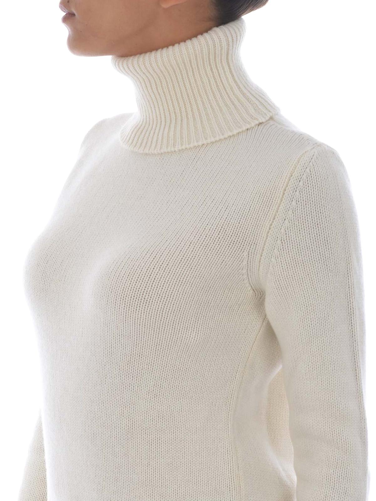 detailed look 398b5 d4617 Etro - Dolcevita bianco in lana e cashmere - maglia a collo ...