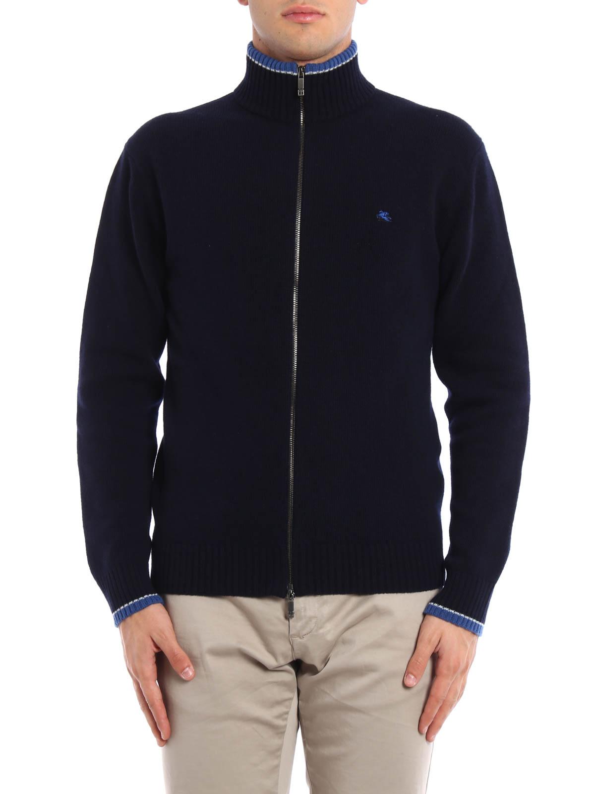 Zipped wool cardigan by Etro - cardigans   iKRIX
