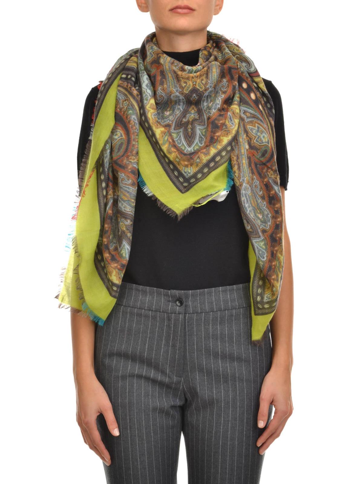 online store 0a9f4 1aef7 Etro - Sciarpa di cashmere con stampa - sciarpe e foulard ...