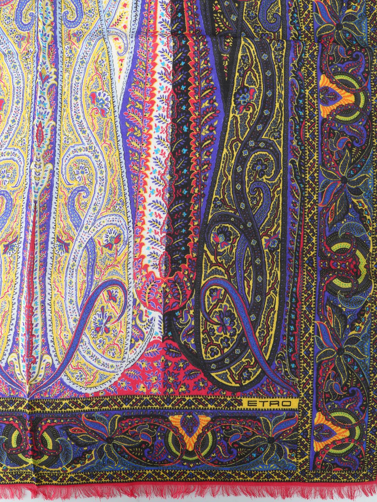 best loved 18205 6969a Etro - Sciarpa Delhy in seta e lana - sciarpe e foulard ...