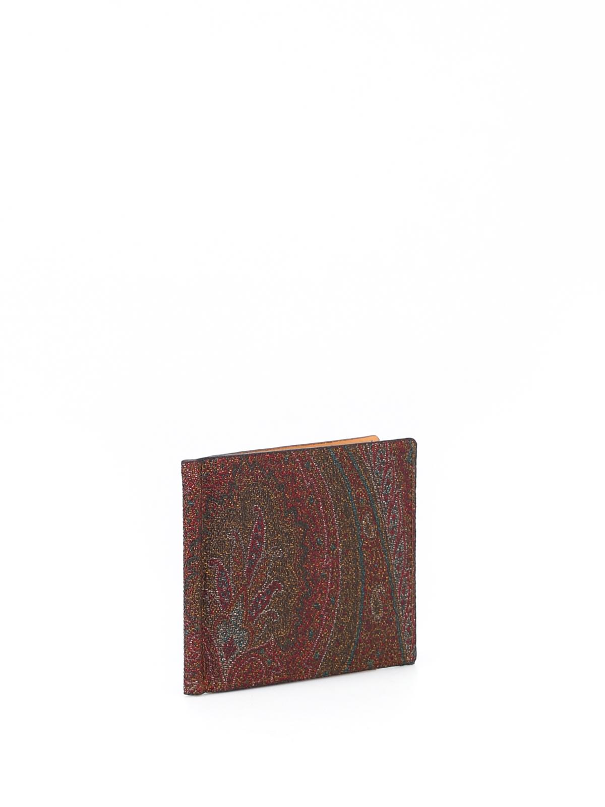 online store 37eb4 e2a0a Etro - Portafoglio in Paisley con clip - portafogli ...