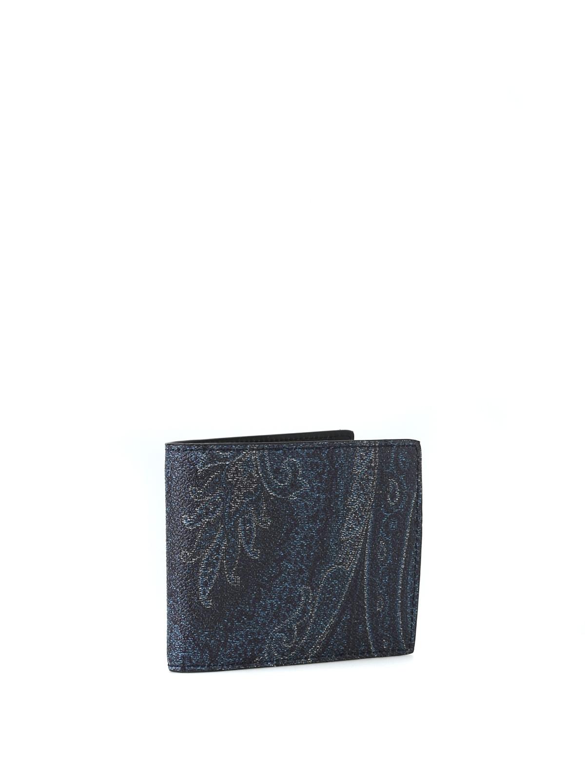 917c230aae ETRO: portafogli online - Portafoglio blu scuro in tessuto paisley
