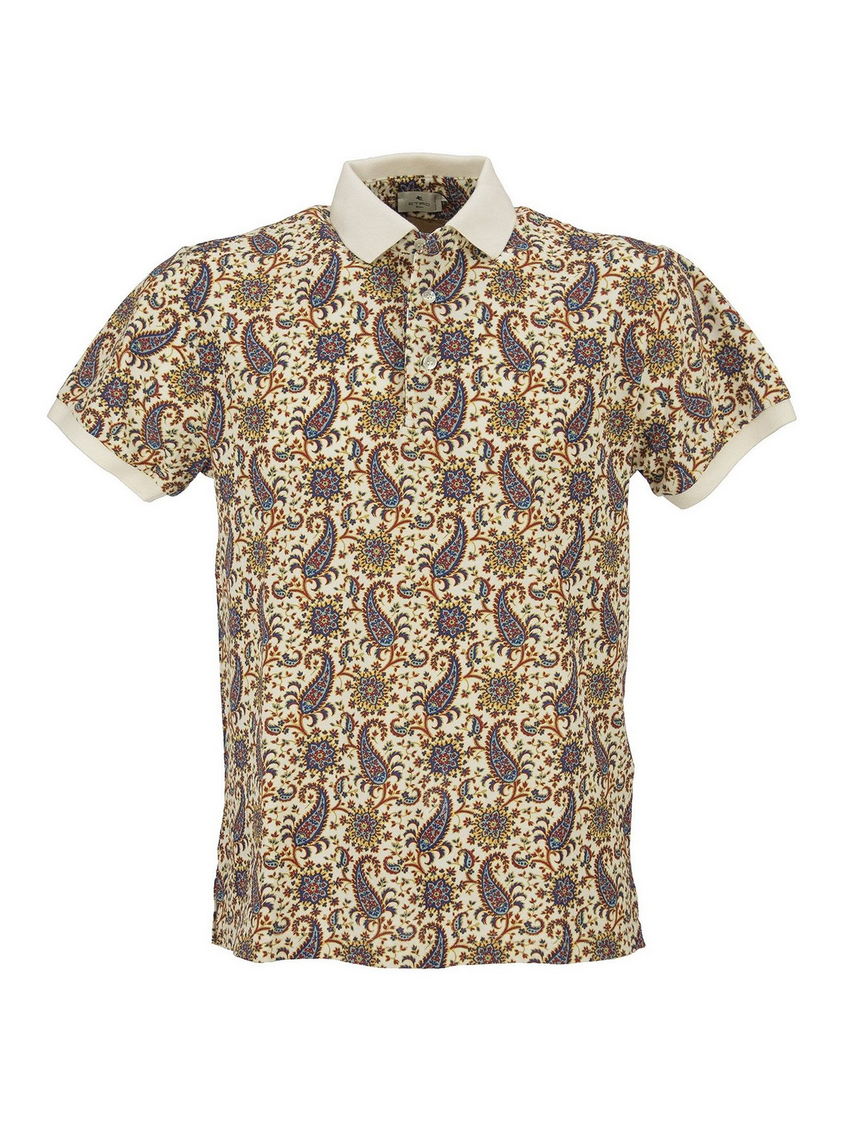 Etro FLORAL PAISLEY PATTERNED POLO