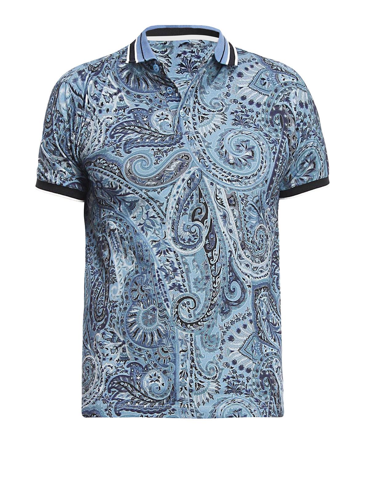 Paisley polo shirt by etro polo shirts ikrix for Etro men s shirts