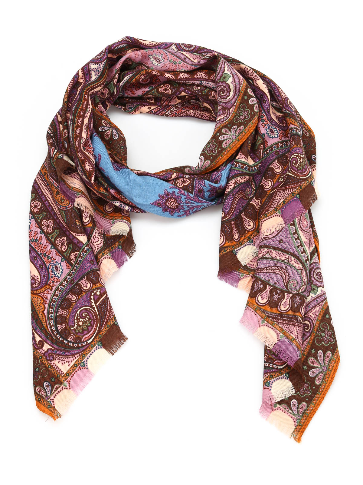 paisley wool and silk scarf by etro scarves ikrix