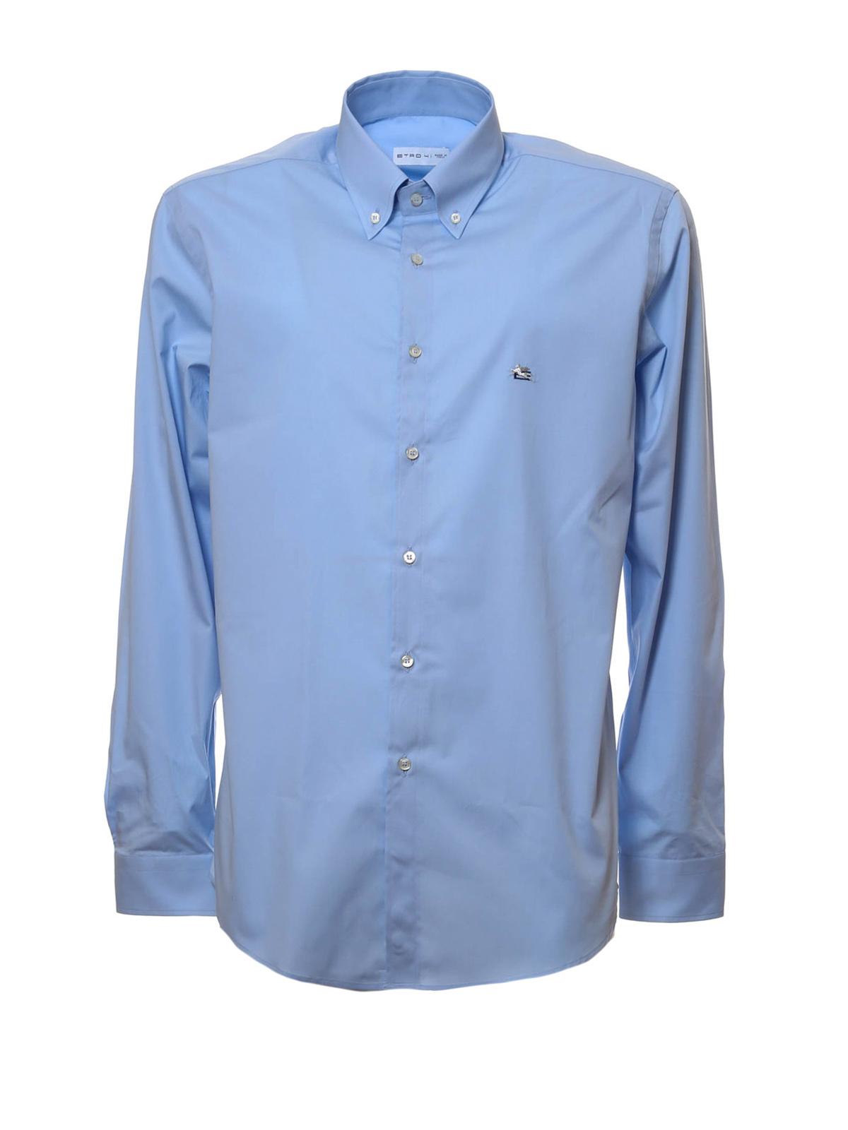 Cotton poplin shirt by etro shirts shop online at for What is a poplin shirt