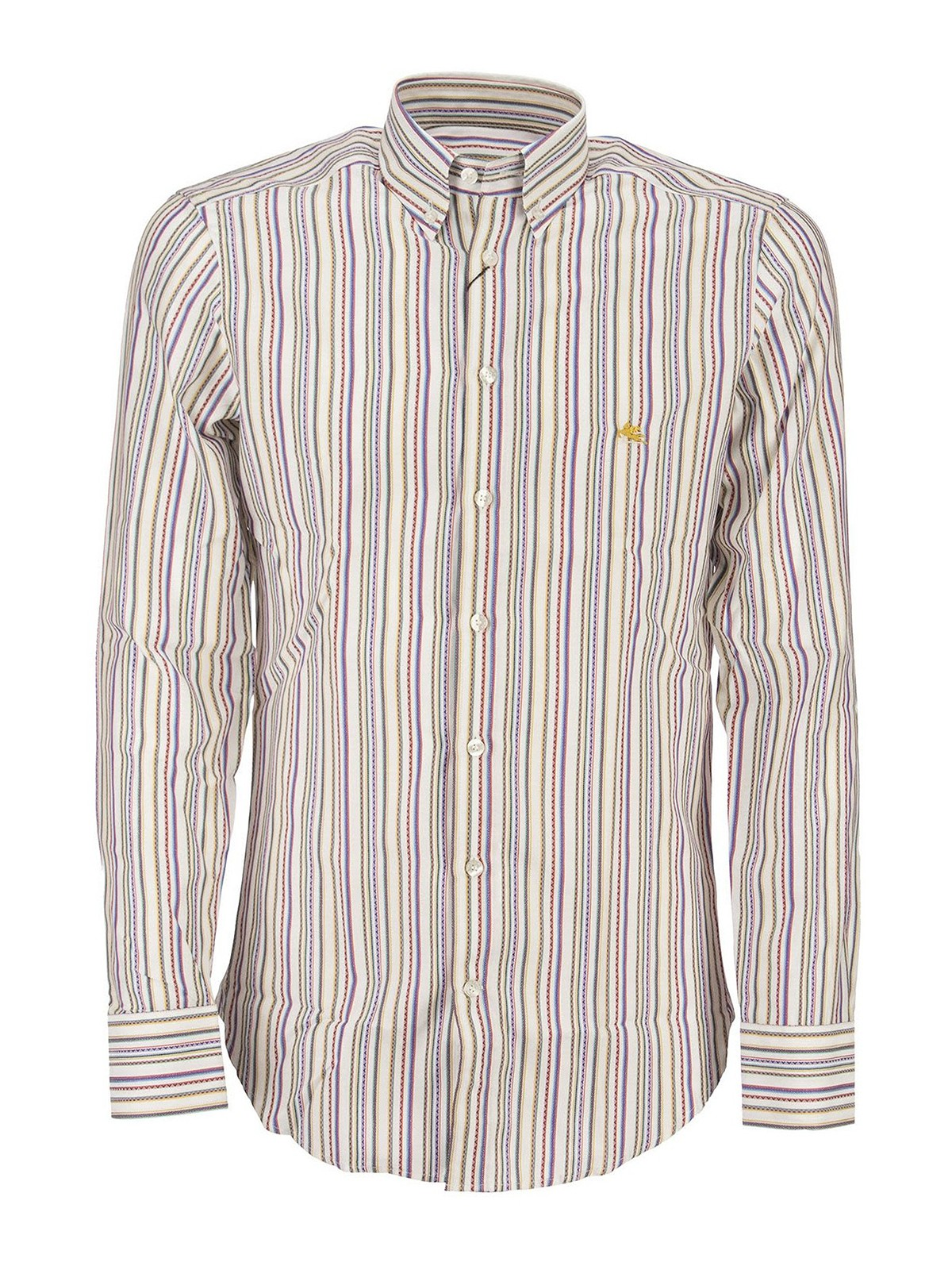 Etro EMBROIDERED STRIPES COTTON SHIRT