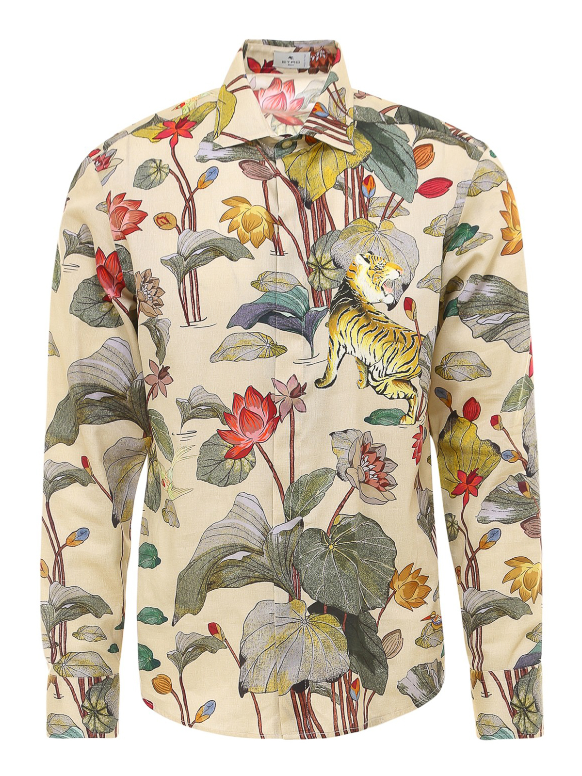 Etro JUNGLE PRINT COTTON SHIRT