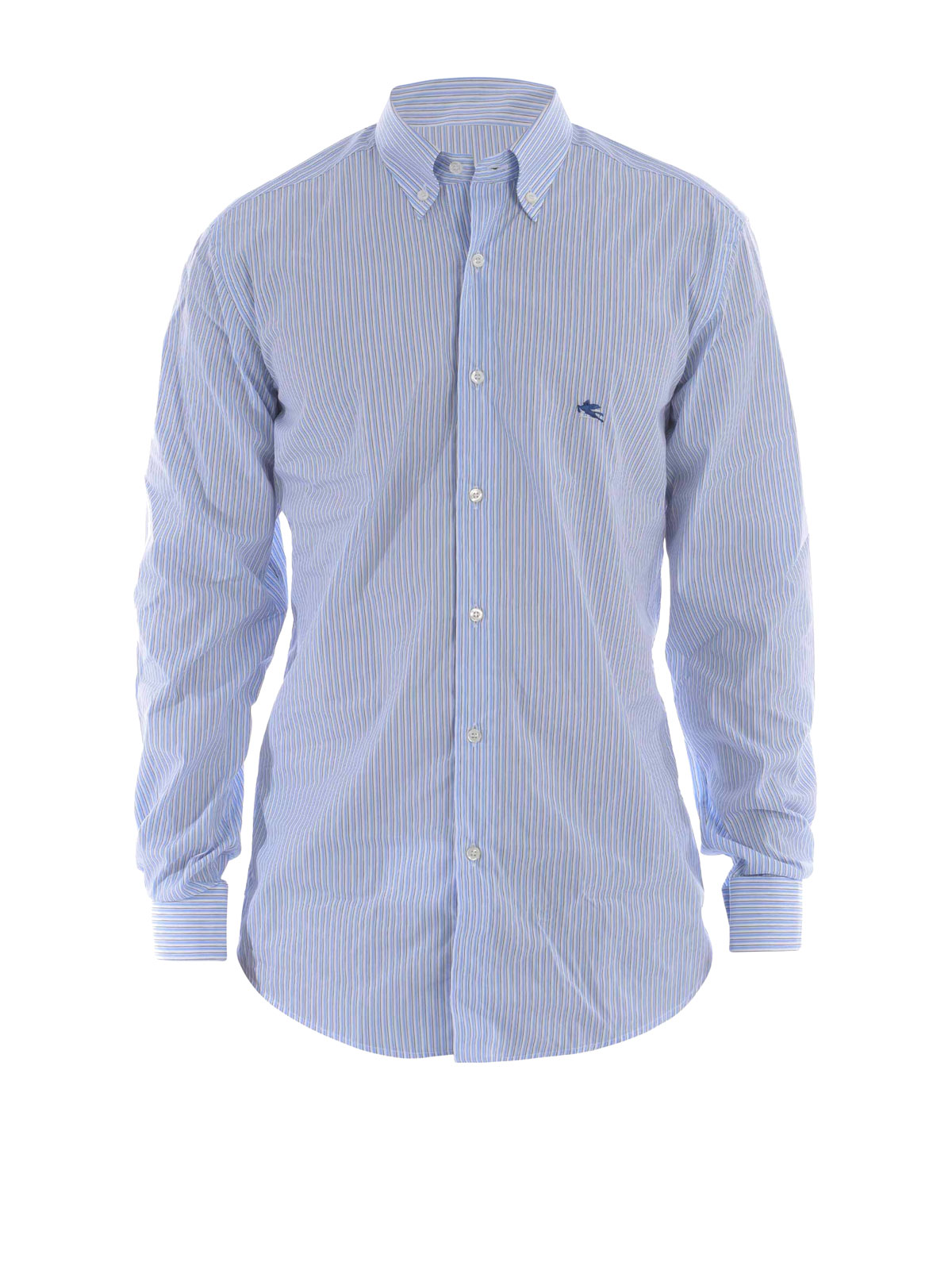 Striped cotton poplin shirt by etro shirts ikrix for What is a poplin shirt