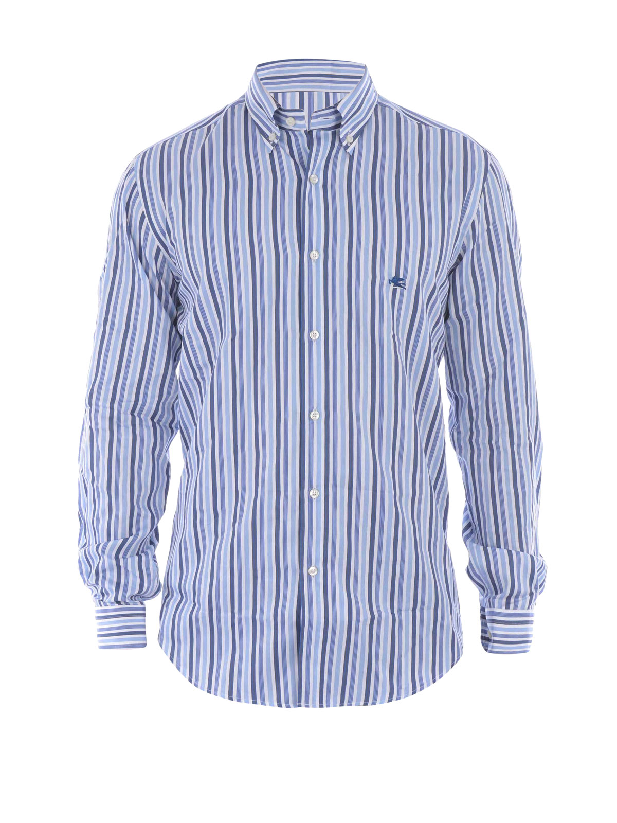 Striped cotton poplin shirt by etro shirts shop online for What is a poplin shirt