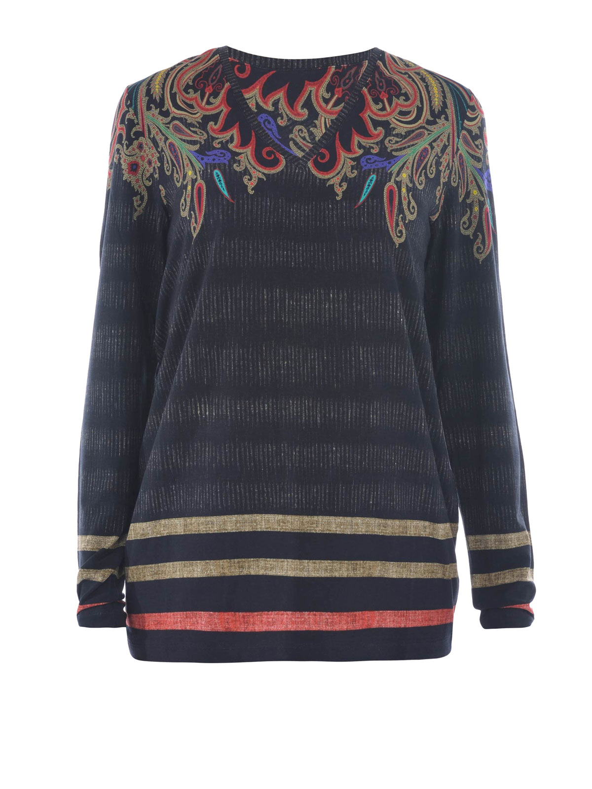 Paisley printed jersey t shirt by etro t shirts ikrix for Who prints t shirts