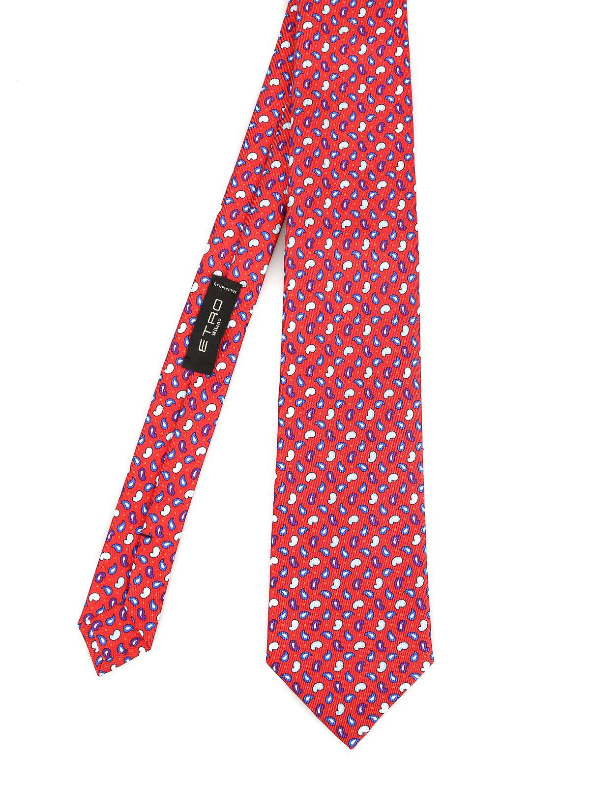 new product 25bcb bc66b Etro - Cravatta in seta con fantasia micro paisley ...