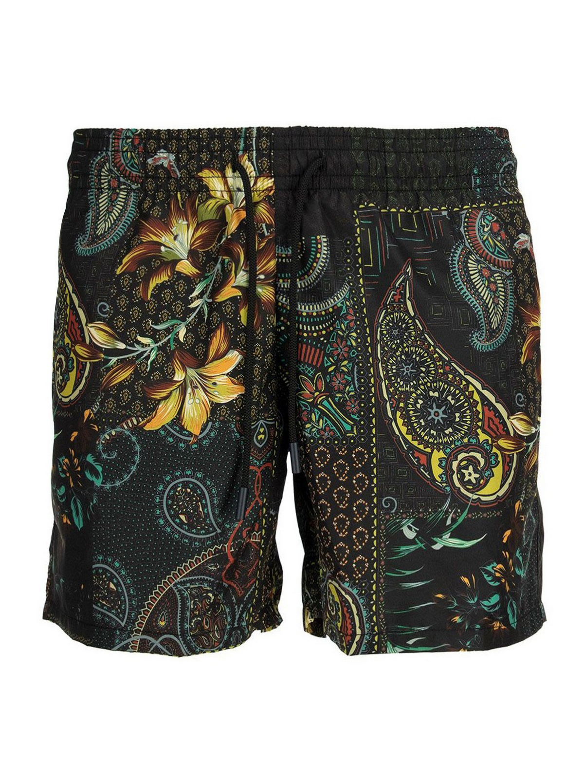 Etro PAISLEY FLORAL PRINTED SWIMMING SHORTS