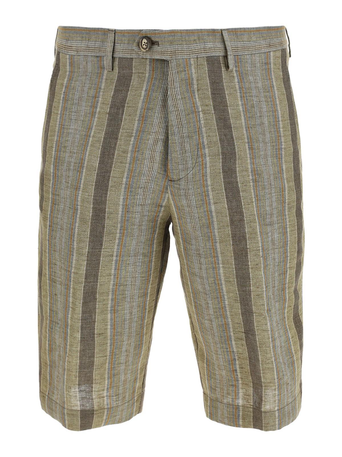 Etro Cottons STRIPED COTTON BERMUDA SHORTS