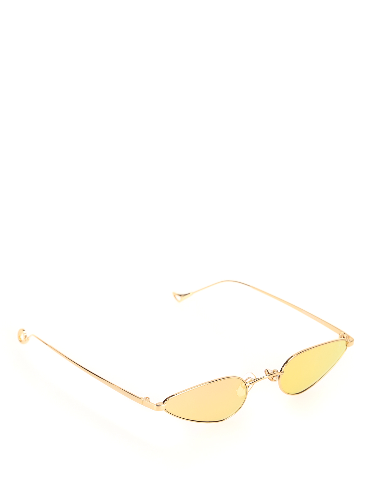 Eyepetizer Veruschka Gold Mirror Effect Lens Sunglasses