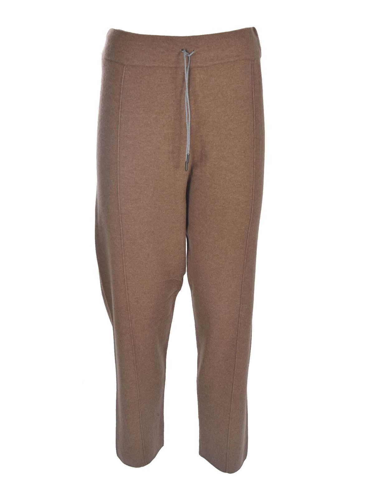 Fabiana Filippi KNITTED PANTS IN BROWN