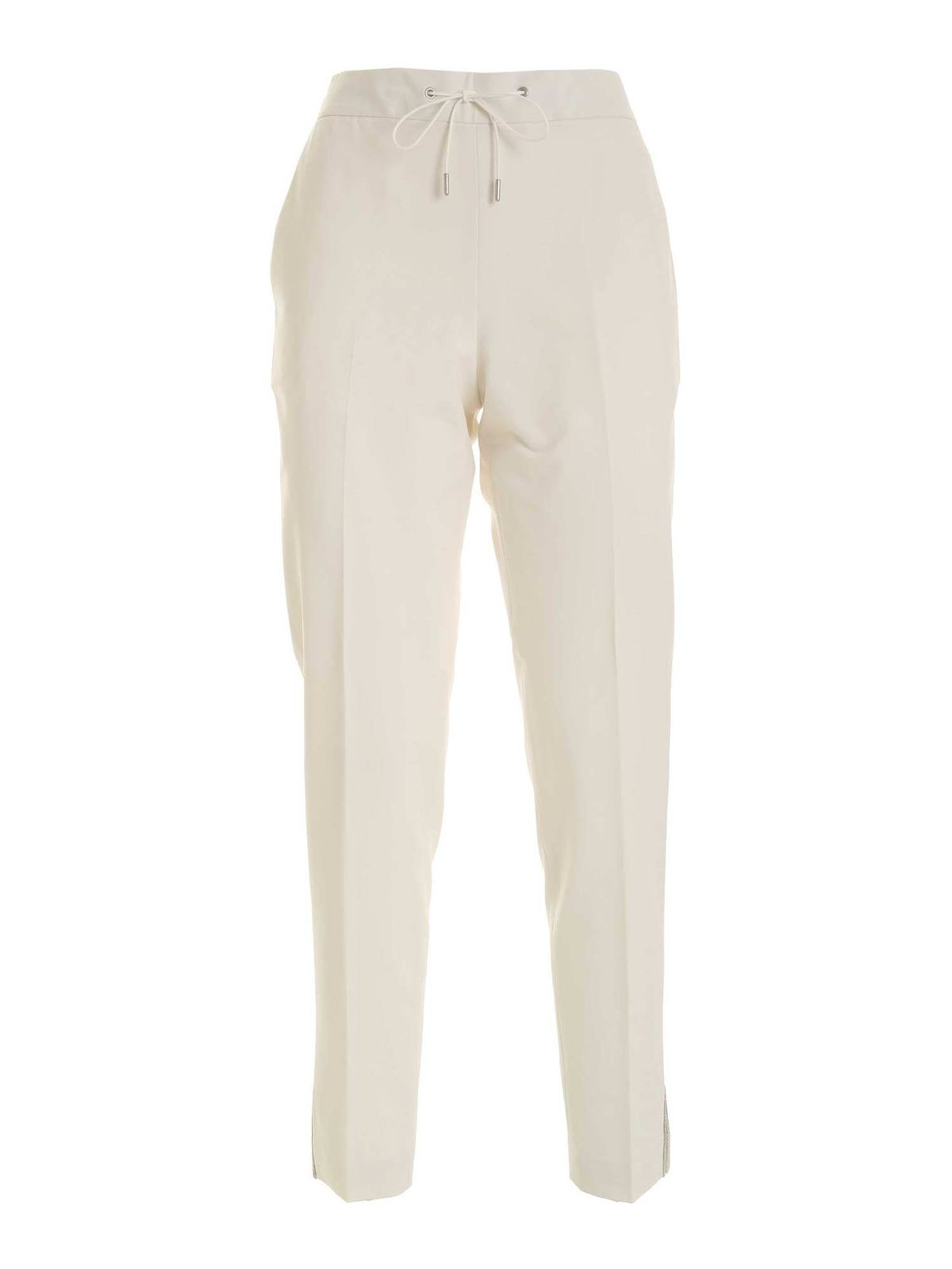 Fabiana Filippi MICRO BEADS PANTS IN CREAM COLOR
