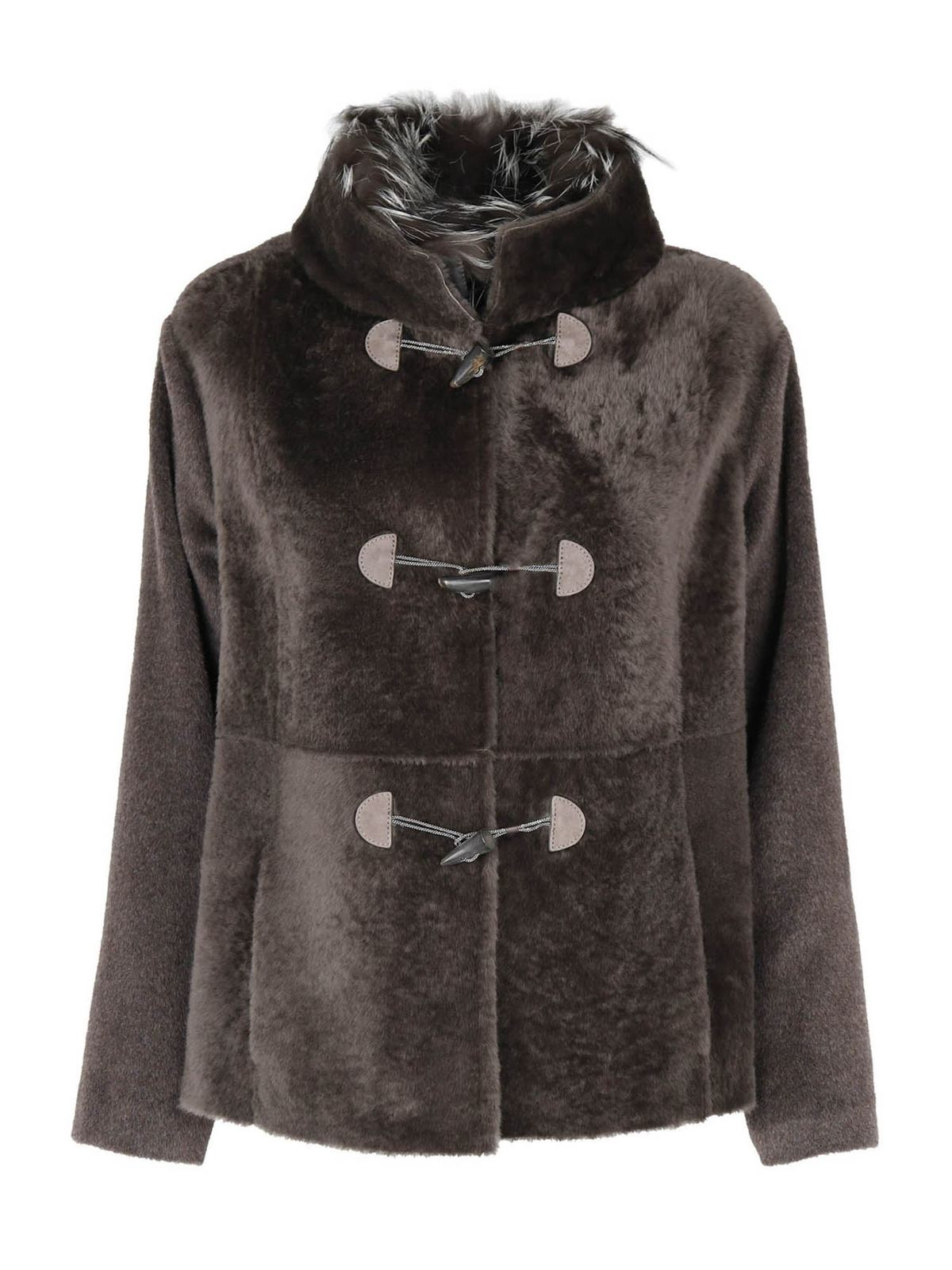 Fabiana Filippi SHEARLING COAT IN BROWN