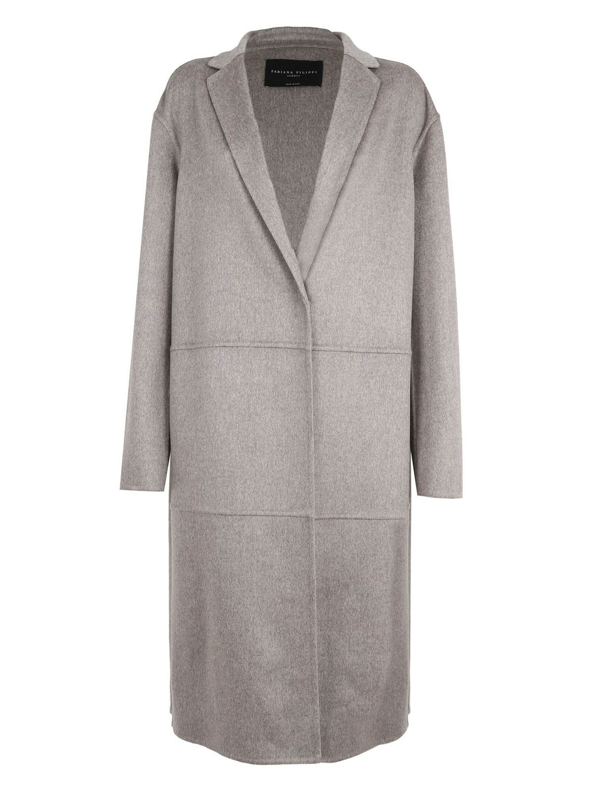 Fabiana Filippi CASHMERE COAT IN GREY