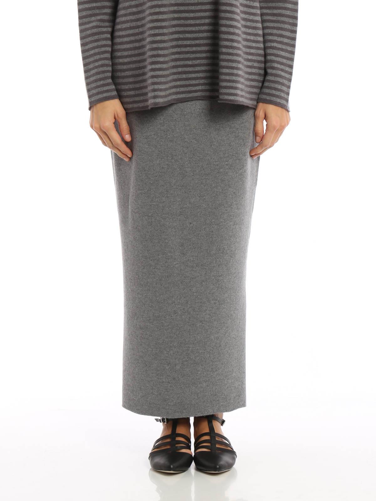 72e3d57e67a393 FABIANA FILIPPI: Long skirts online - Merino silk and cashmere skirt