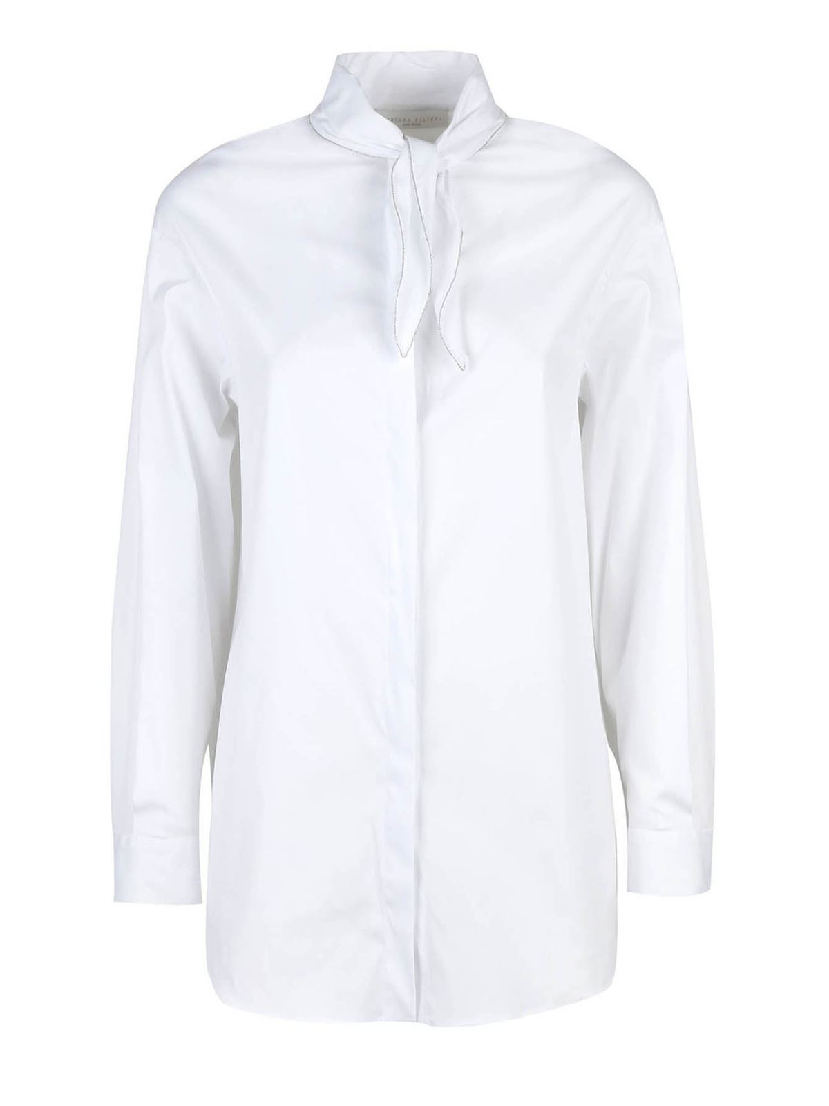 Fabiana Filippi MICRO BEADS SHIRT IN WHITE