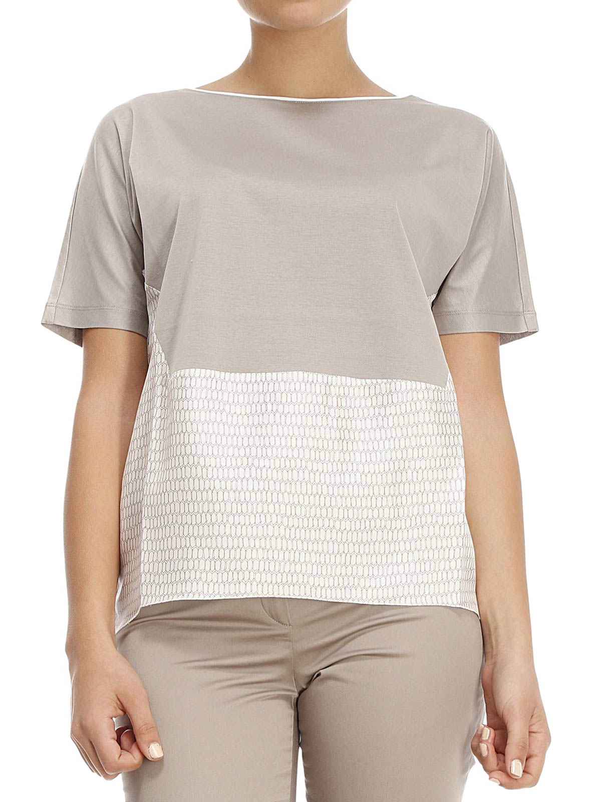 Cotton and silk over t shirt by fabiana filippi t shirts for Cotton silk tee shirts