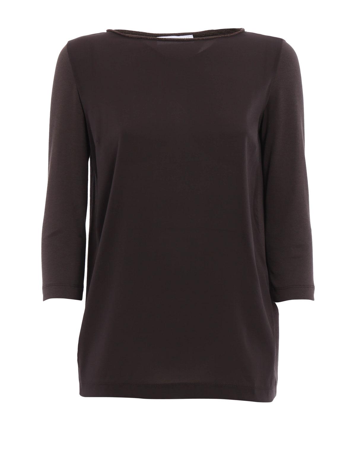 Camisetas Para Mujer Marrón Fabiana Oscuro Filippi Camiseta nPk8w0O