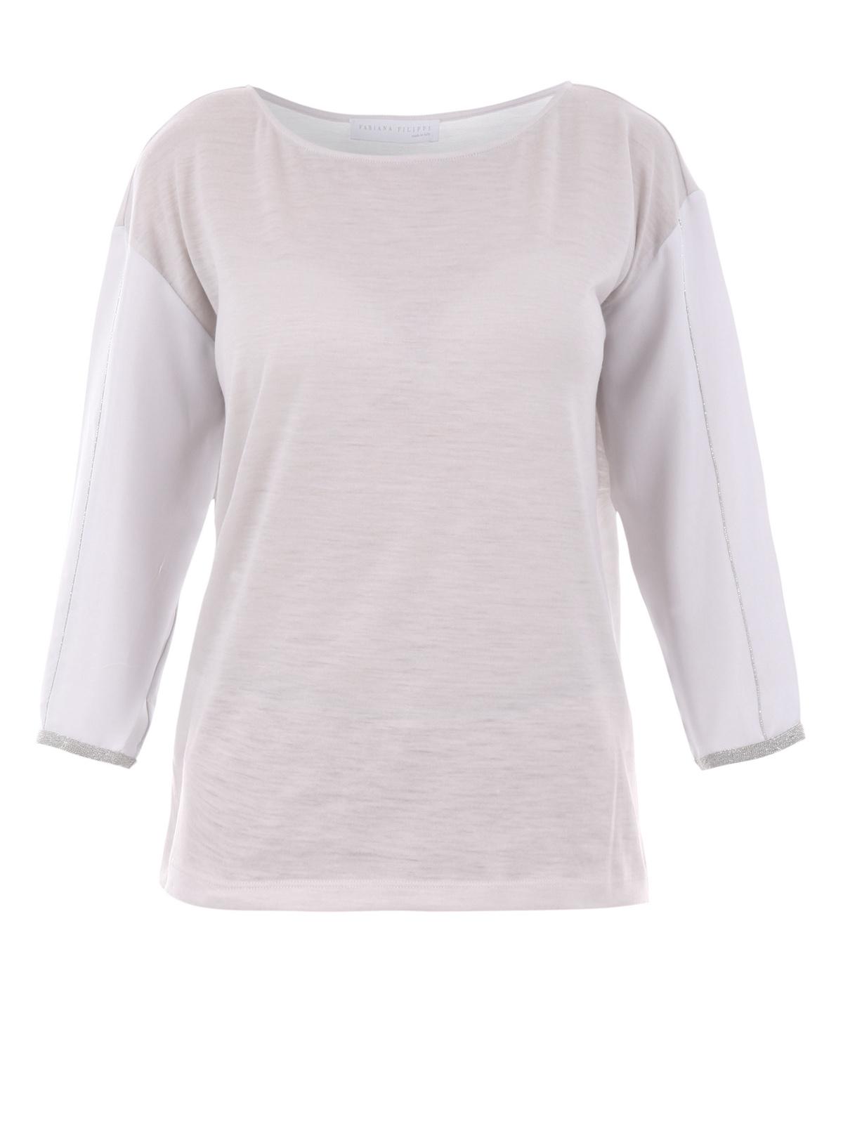 Wool and silk long sleeve t shirt by fabiana filippi t for Silk long sleeve shirt