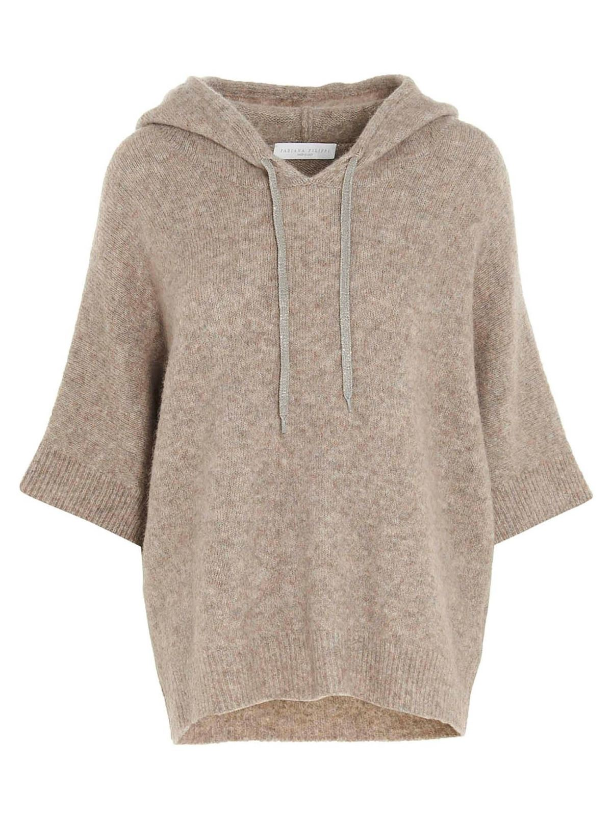 Fabiana Filippi HOODED SWEATER IN PINE NUT COLOR