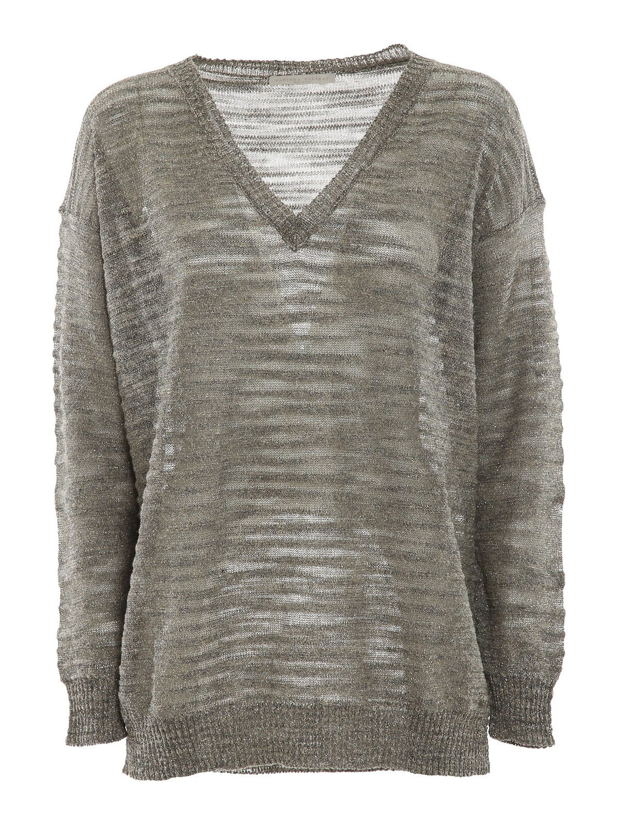 Fabiana Filippi Knits LUREX-KNIT V NECK JUMPER
