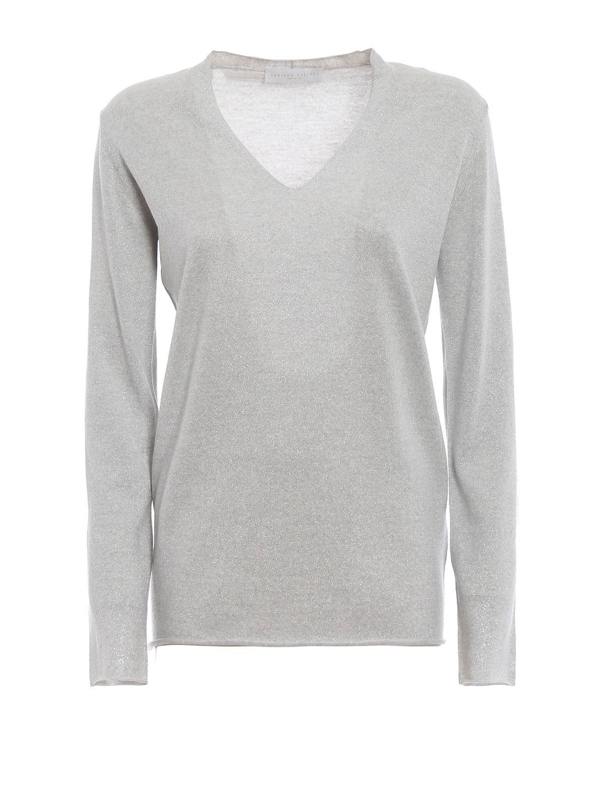 4e81fd8dbb Fabiana Filippi - Merino wool and lurex V-neck sweater - v necks ...