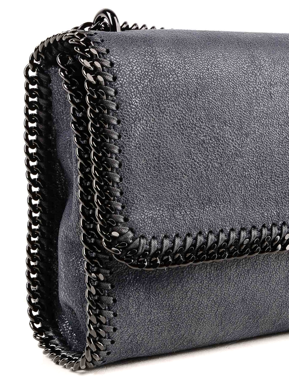 Falabella navy shaggy deer shoulder bag shop online  STELLA McCARTNEY e23b9593e1f6c