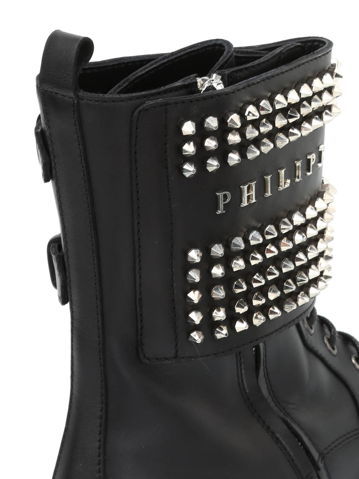 Philipp Plein - Fall Asleep studded leather booties - ankle boots