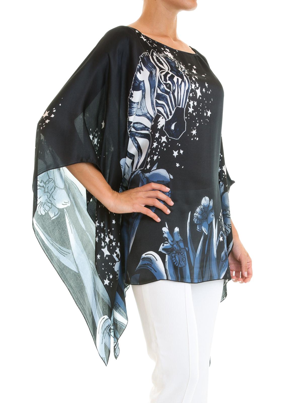 hot sale online 0cc90 4ebd2 Class Roberto Cavalli - Fantasy print silk caftan blouse ...