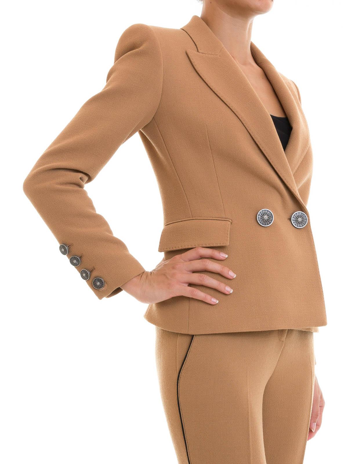 Blazer Online Marron De Costume Fausto Puglisi Vestes Clair TIwqxgXF