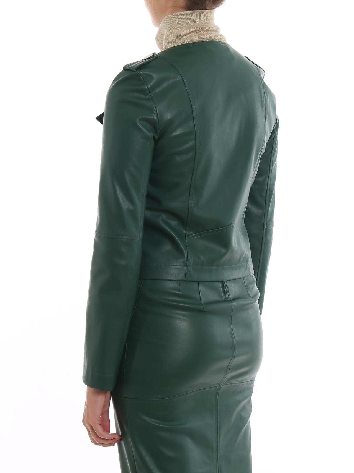 brand new 8e152 f38b9 Patrizia Pepe - Giacca corta in simil pelle - giacche in ...