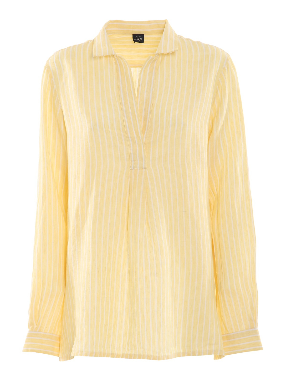 Fay STRIPED LINEN BLOUSE