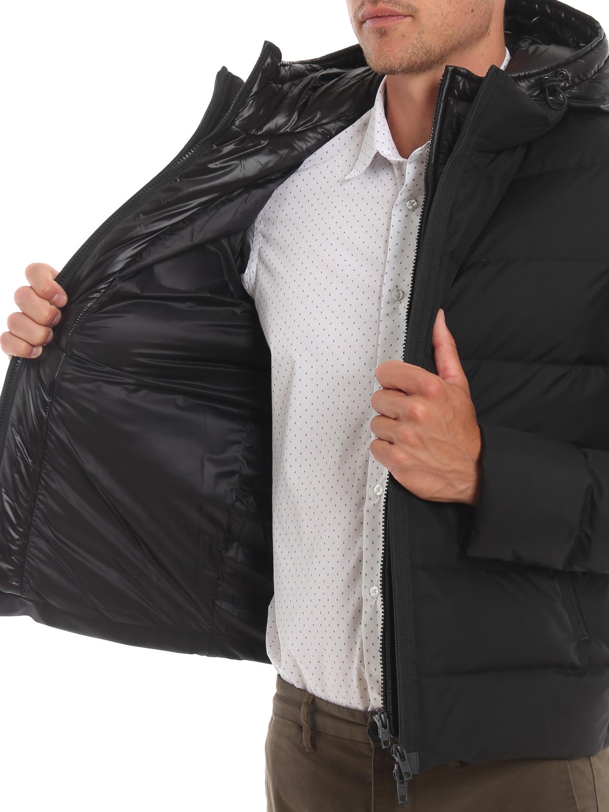 35cbe0c307 Fay - Giacca corta nera imbottita con double front - giacche ...