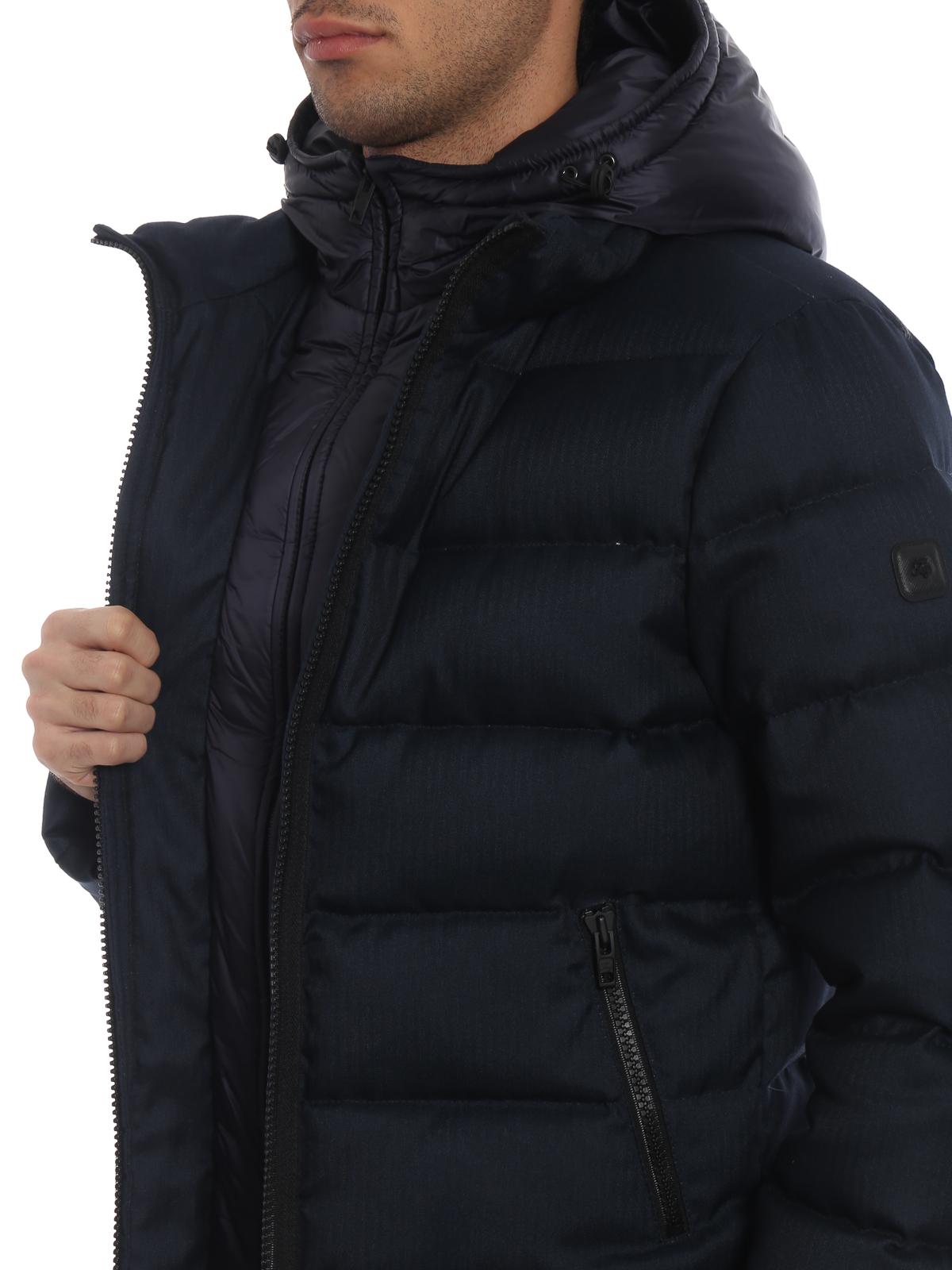 Fay Piumino scuro giacche cappuccio blu imbottite con n8WxndBAT